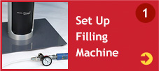 Set Up Filling Machine